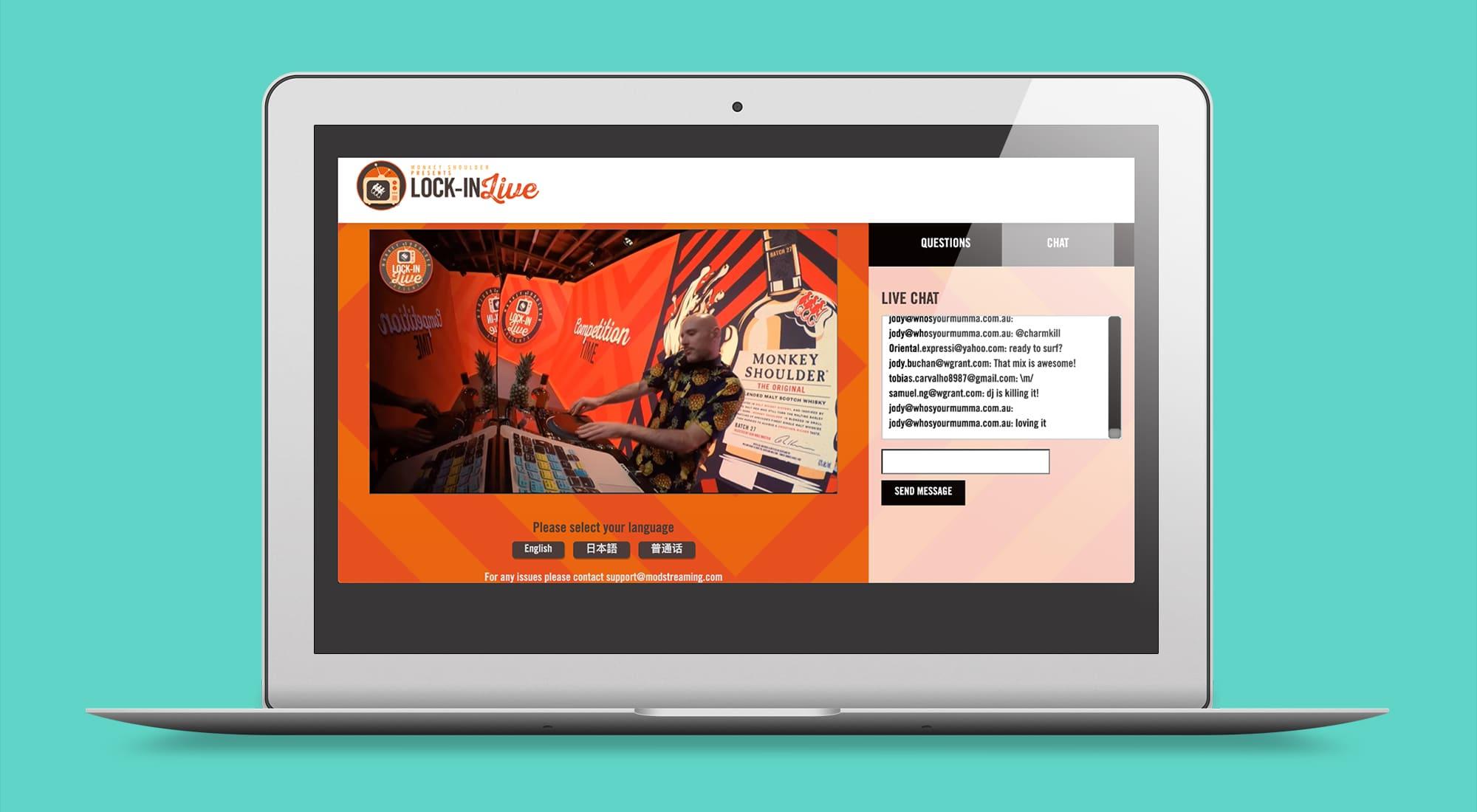 Monkey Shoulder live website