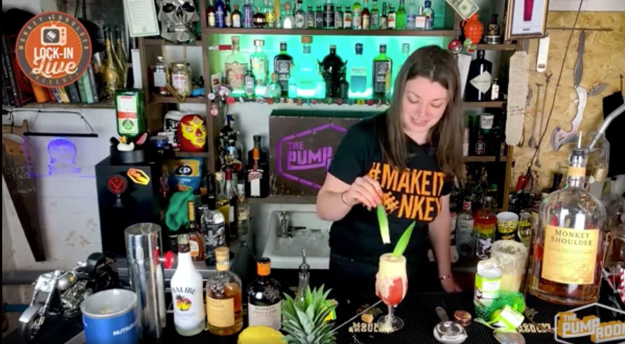 Monkey Shoulder live bar tender